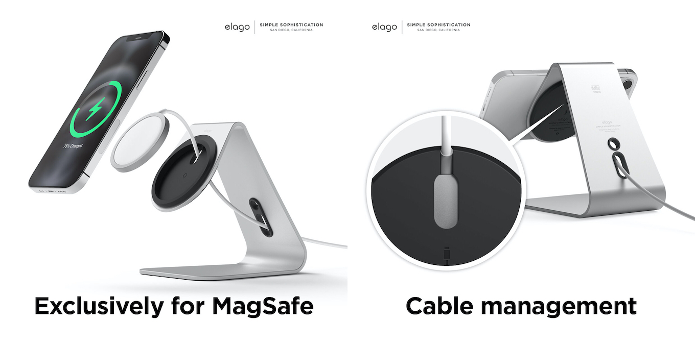 MS4 Aluminum Charging Stand for MagSafe
