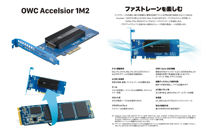 OWC Accelsior 1M2