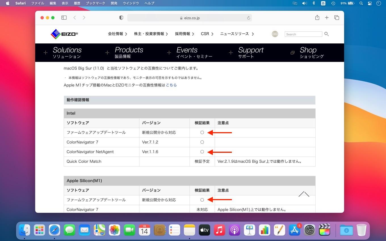 EIZOファームウェアアップデートツール