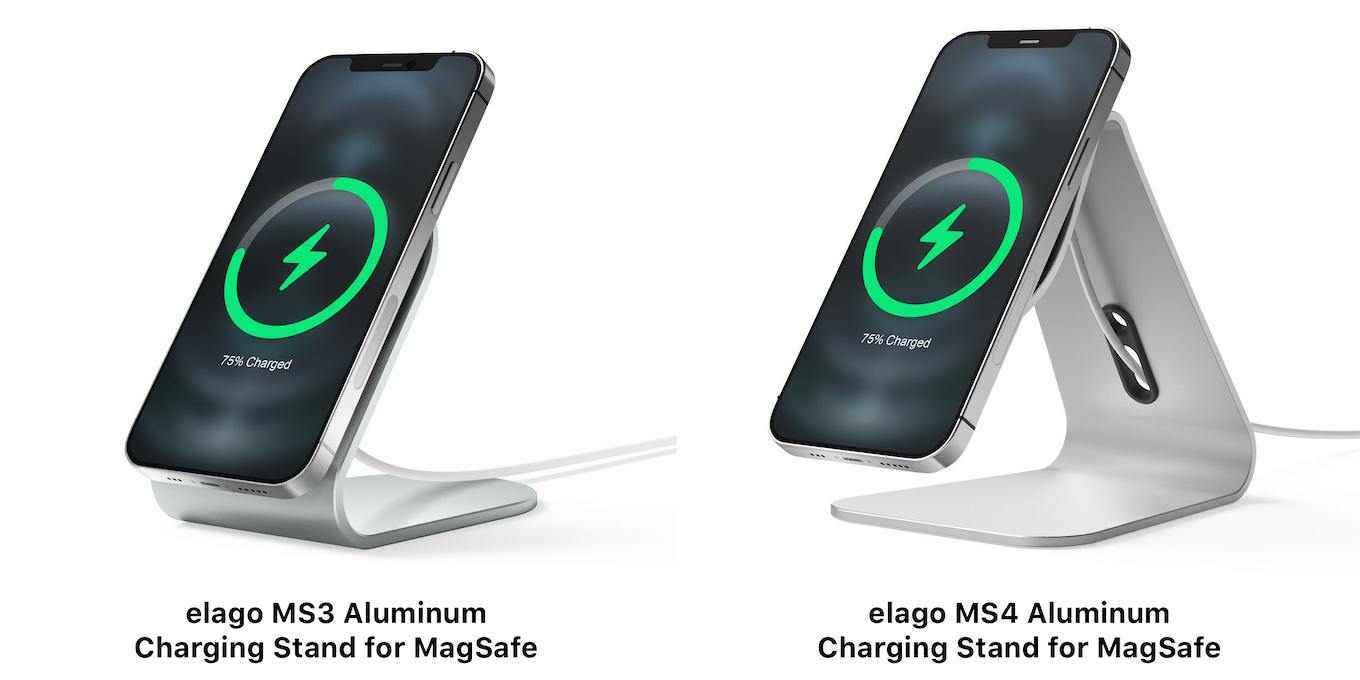 elago MS3 and MS4 Aluminum Charging Stand for MagSafe