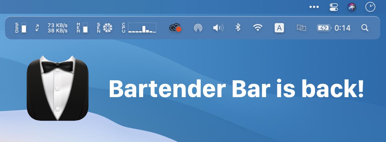 Bartender Bar is back!