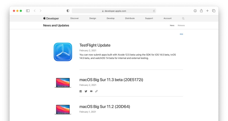macOS Big Sur 11.3 beta (20E5172i)
