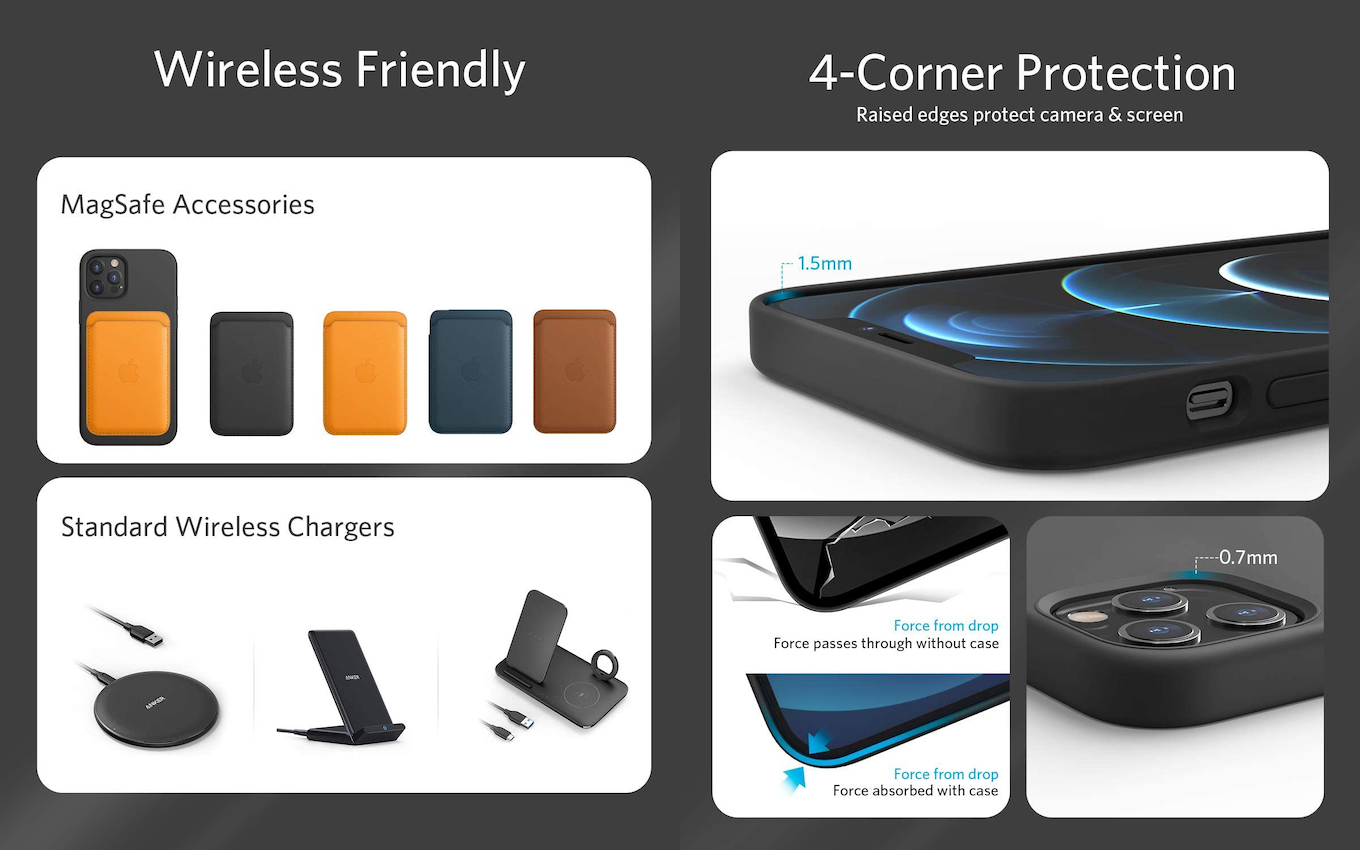 Anker Magnetic Silicone Caseのサイズ