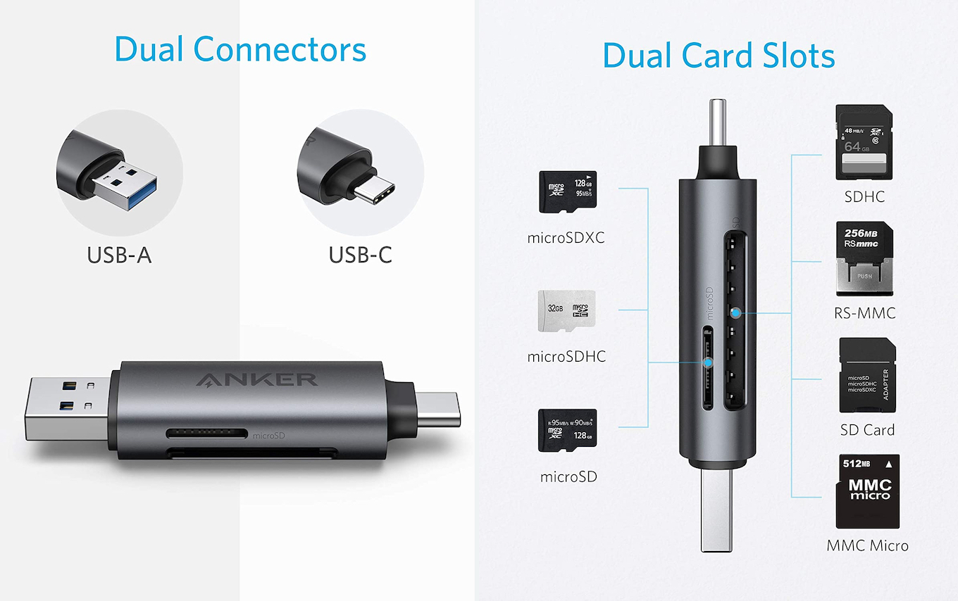 Anker PowerExpand 2-in-1 SD 3.0 Card Reader