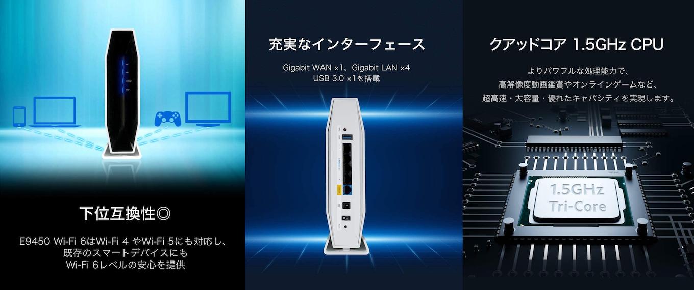 Linksys デュアルバンド Wi-Fi 6 メッシュルーター E9450
