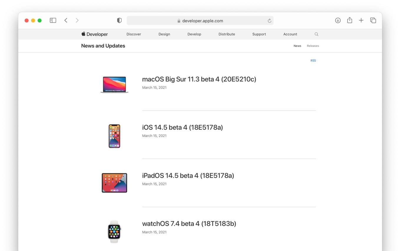 macOS Big Sur 11.3 beta 4 (20E5210c)