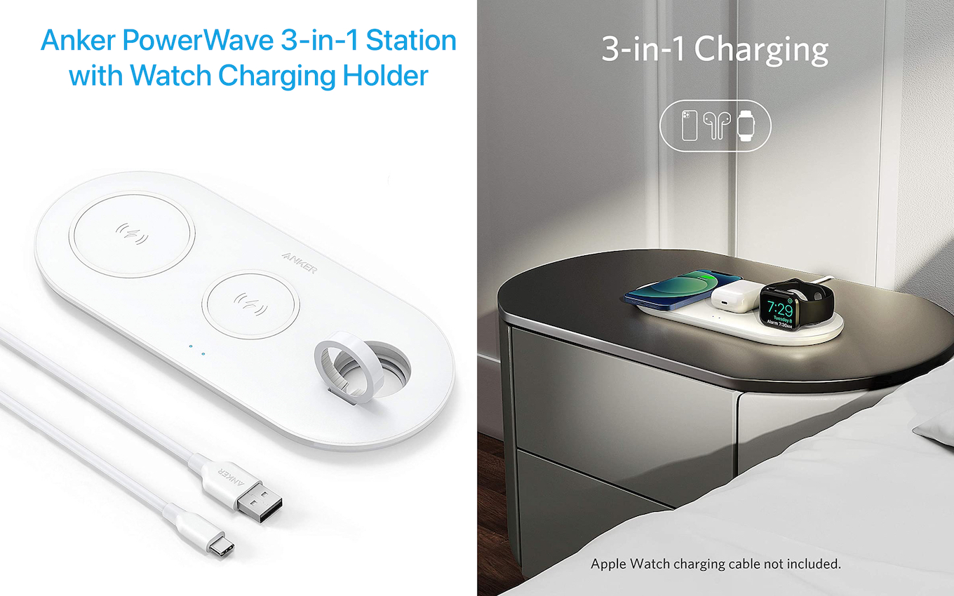 Anker PowerWave 3-in-1 Station with Watch Charging Holder