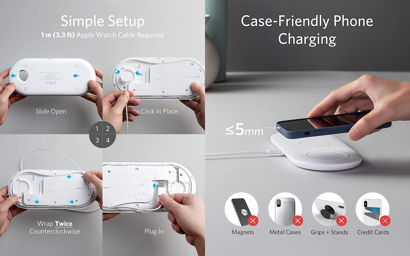 PowerWave 3-in-1 Station with Watch Charging Holder