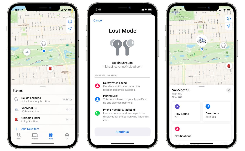 iPhoneの探すアプリ