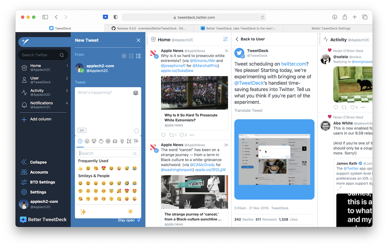 Better TweetDeck v4.0 Default