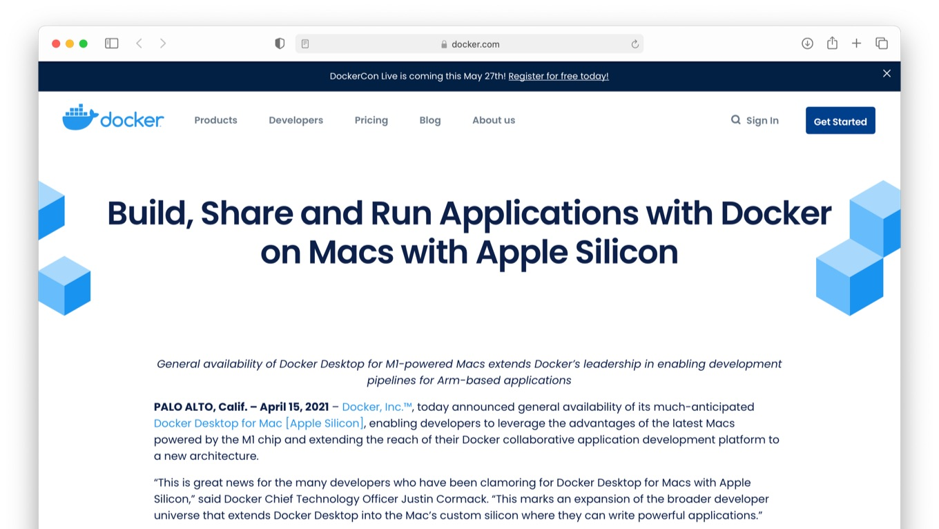 Build, Share and Run Applications with Docker on Macs with Apple Silicon