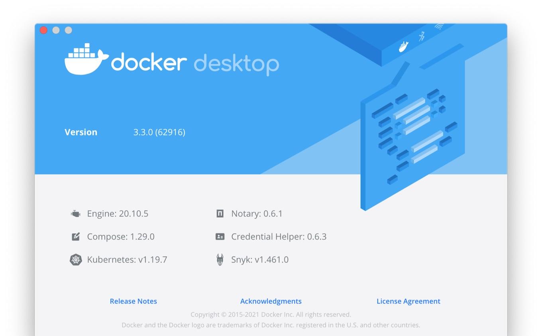 Docker Desktop v3.3