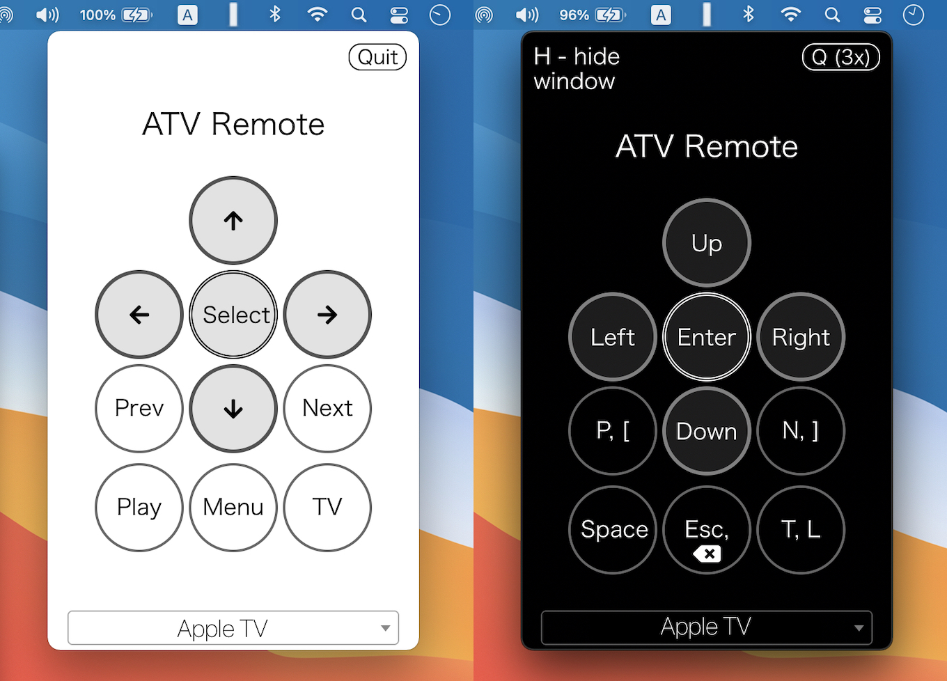 ATV Desktop Remote