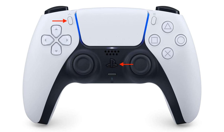 DualSenseワイヤレスコントローラのペアリングモード