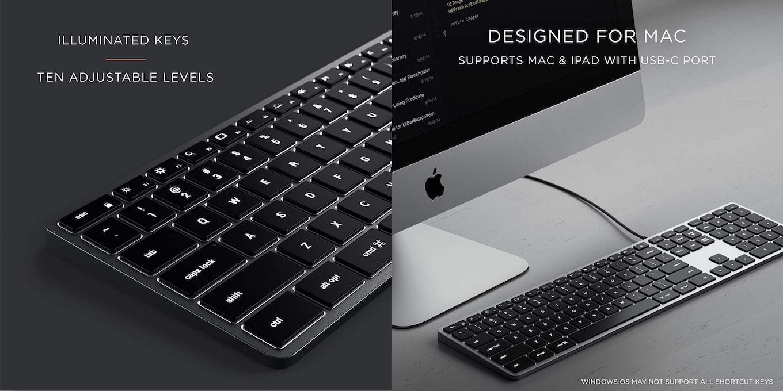 Slim X3 Bluetooth Backlit Keyboard backlight
