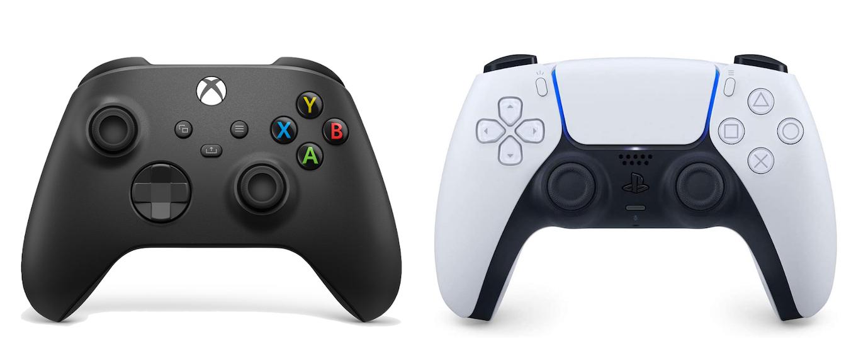 Xbox Series X と PS5 Controller