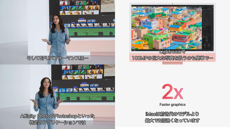 iMac (Retina 4.5K, 24inch, M1, 2021)のGPU