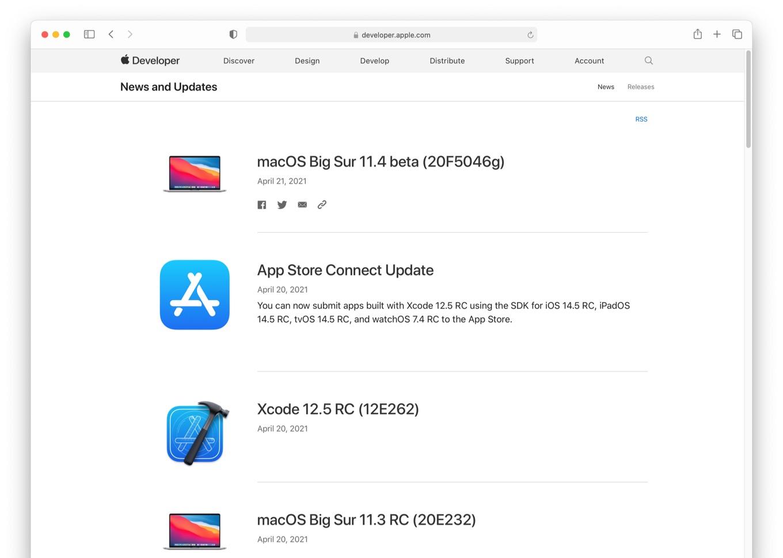 macOS Big Sur 11.4 beta (20F5046g)
