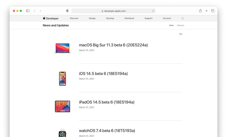 macOS 11.3 Big Sur beta 6 (20E5224a)