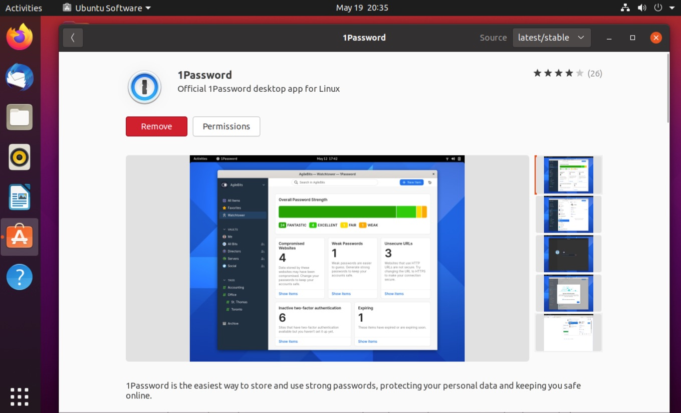 Get the 1Password for Linux app