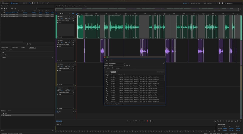 Adobe Audition v14.2 Strip Silence