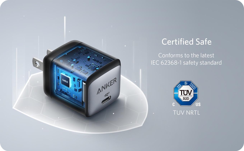 Anker Nano II TUV SUD IEC 62368-1