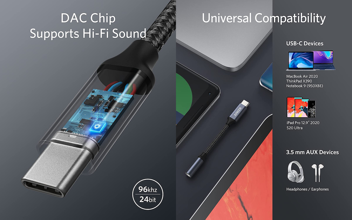 Anker USB-C to 3.5 mm Audio Adapter