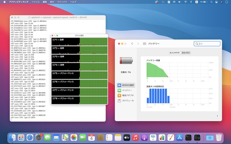 MacBook Pro (M1, 13-inch, 2020)のバッテリードレイン