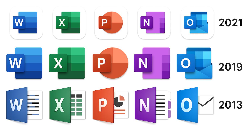 Officeファミリーのアイコンを刷新
