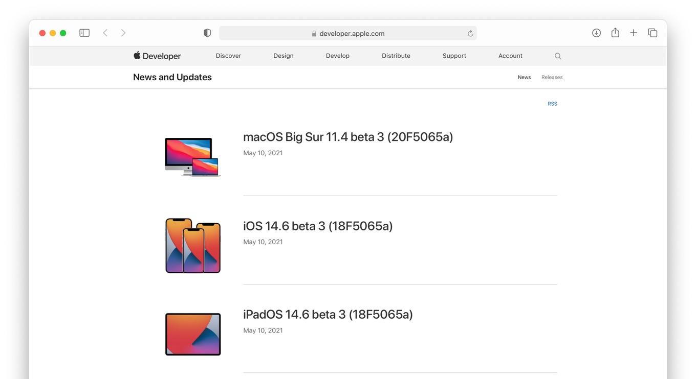 macOS Big Sur 11.4 beta 3 build 20F5065a