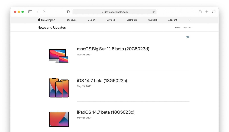 macOS Big Sur 11.5 beta Build 20G5023d