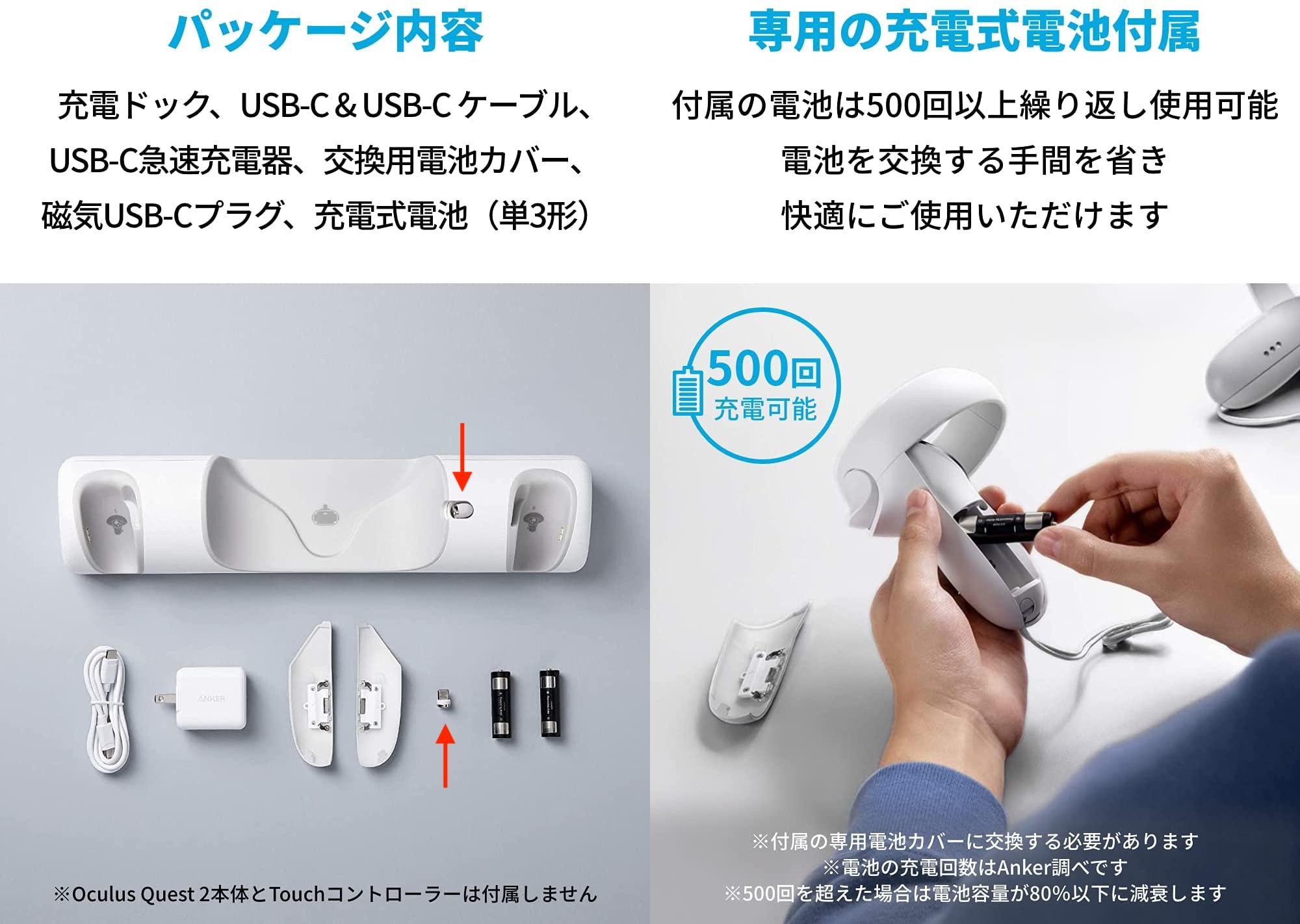 USB-Cプラグと磁気出力コネクタ