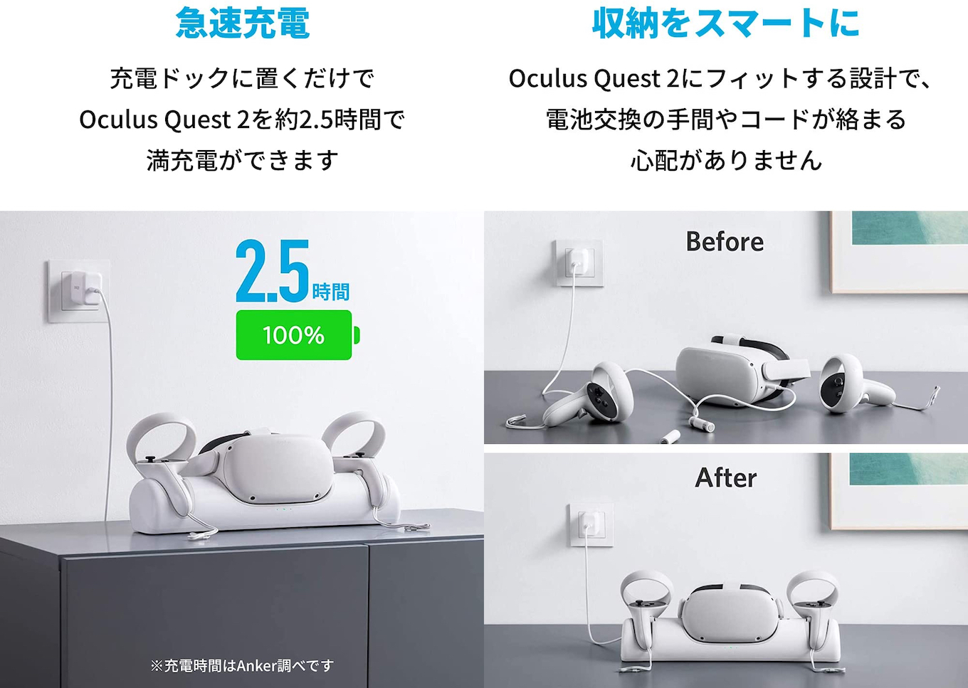 Anker Charging Dock for Oculus Quest 2