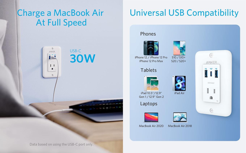 Anker PowerExtend USB-C Wall Outlet