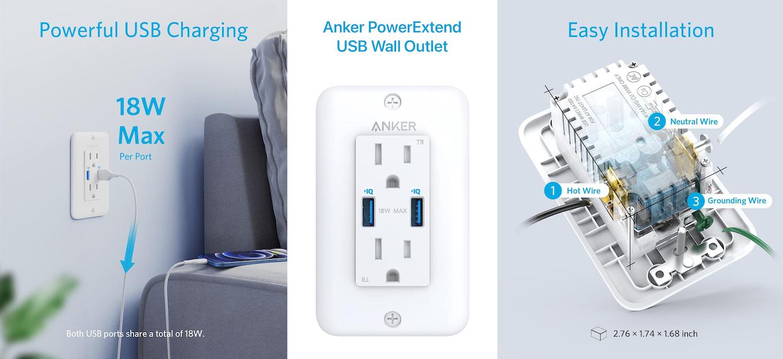 Anker PowerExtend USB Wall Outlet