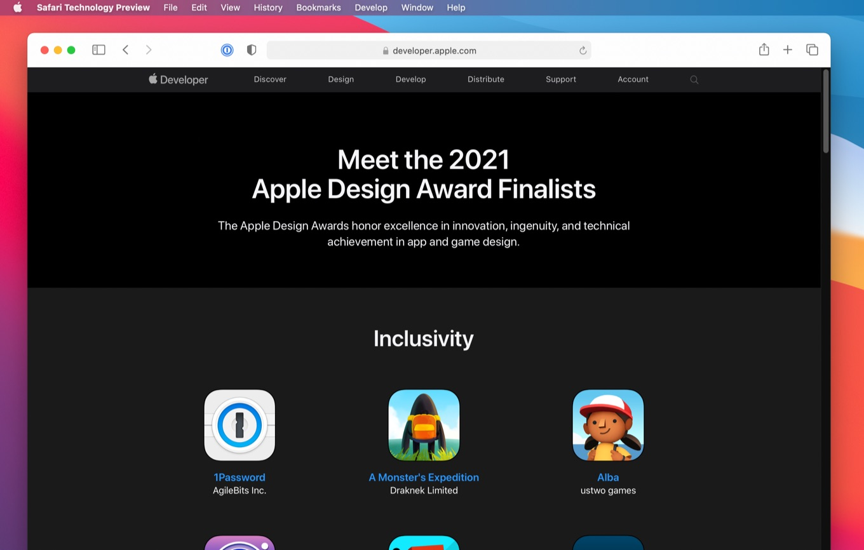 Apple Design Award 2021 Finalists