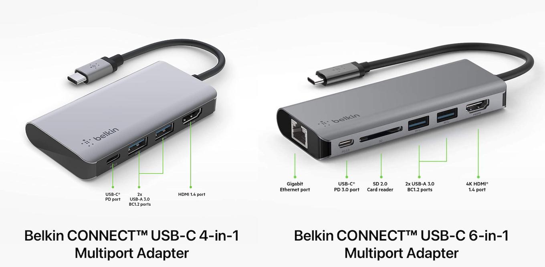 Belkin CONNECT USB-C 6-in-1 Multiport Adapter