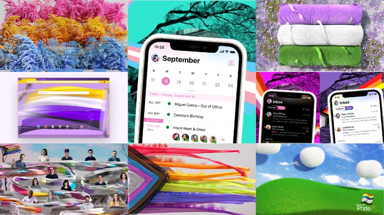Microsoft rainbow flag
