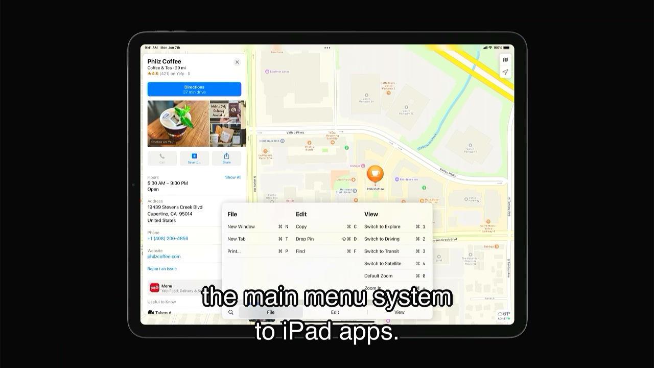 iPadOS 15のメインメニュー