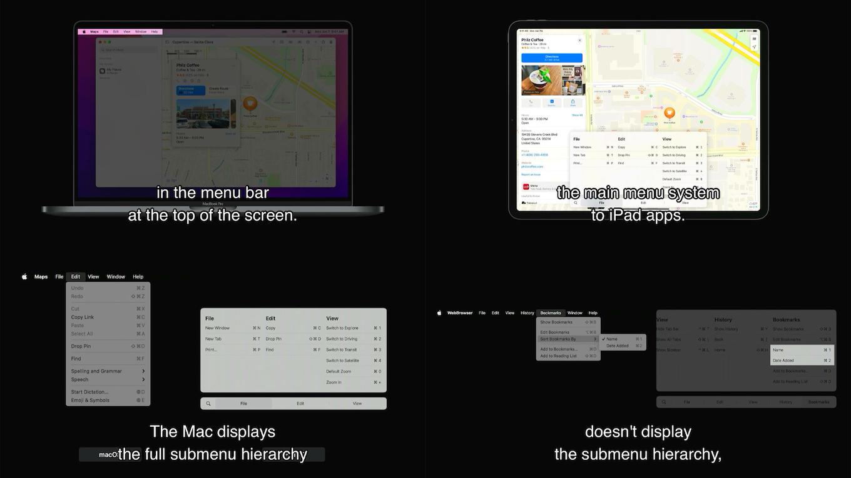 iPadOS15でメニューがサポート