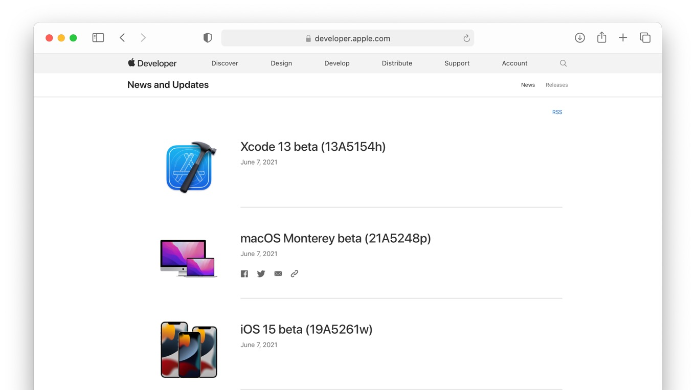 macOS 12 Monterey beta Build 21A5248p