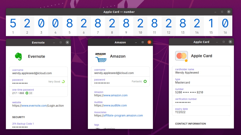1Password for Linux 8.1 multiple windows