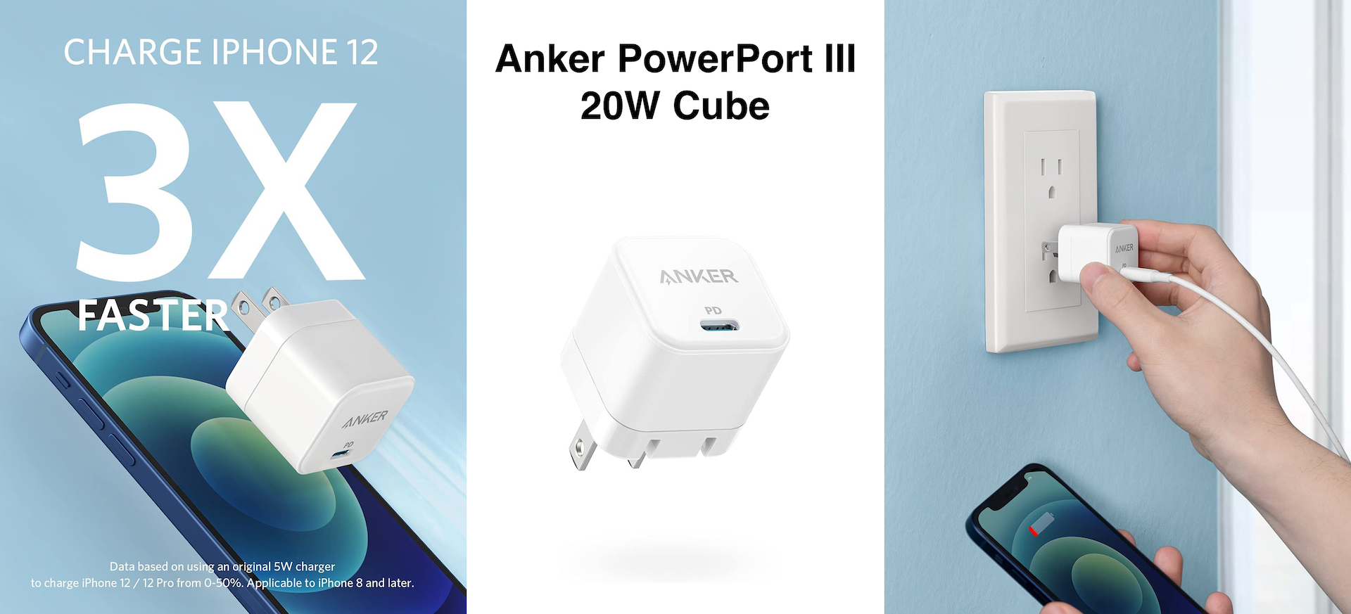 Anker PowerPort III 20W Cube A2149