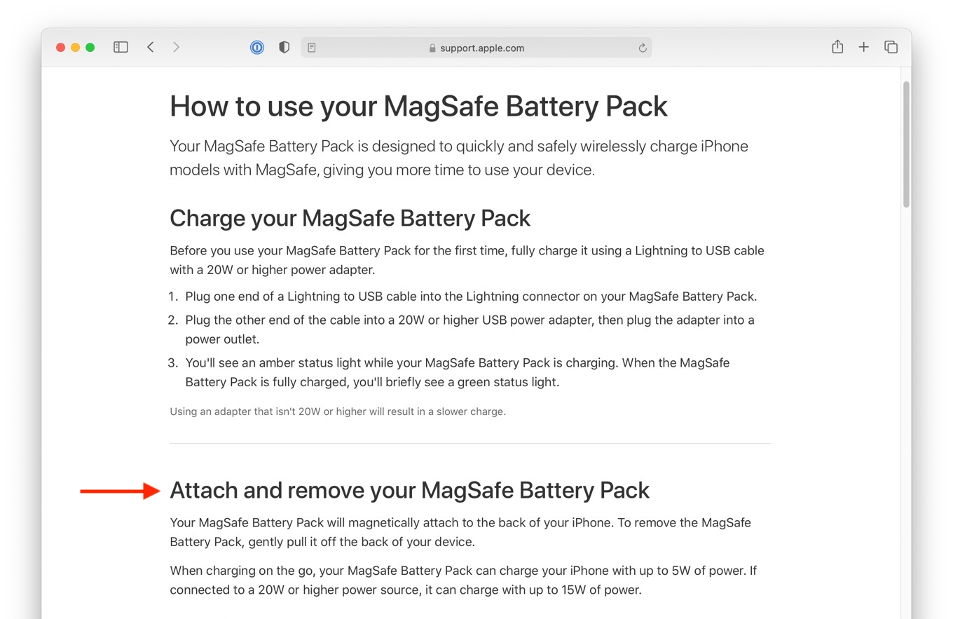 How to use your MagSafe Battery Pack