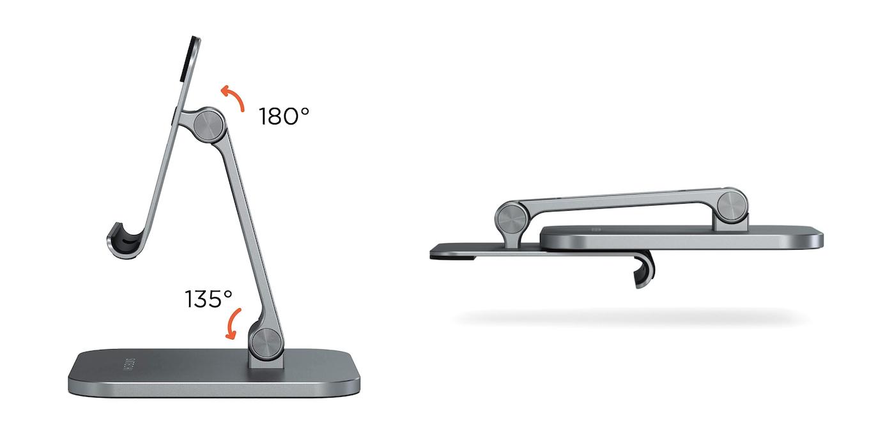 Aluminum Desktop Stand for iPad