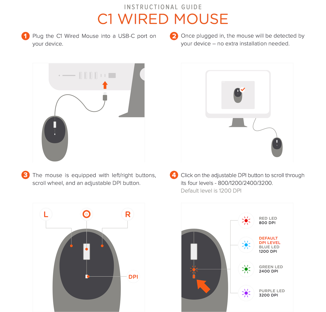 Satechi C1 USB-C Wired Mouse guide