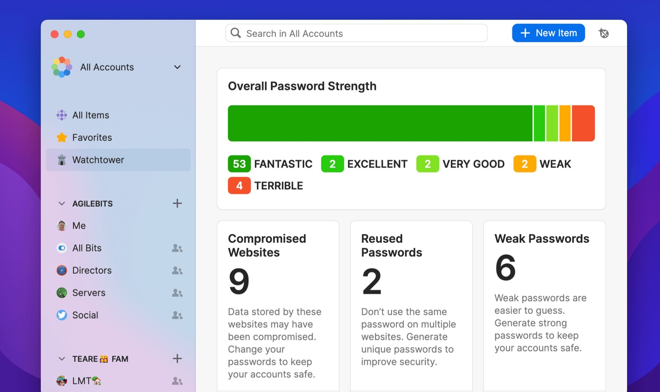 1Password 8 for Mac new watchtower