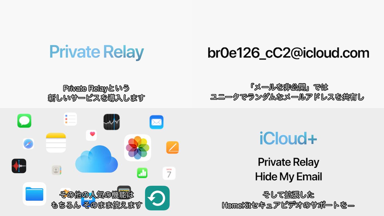 iCloud+の新機能