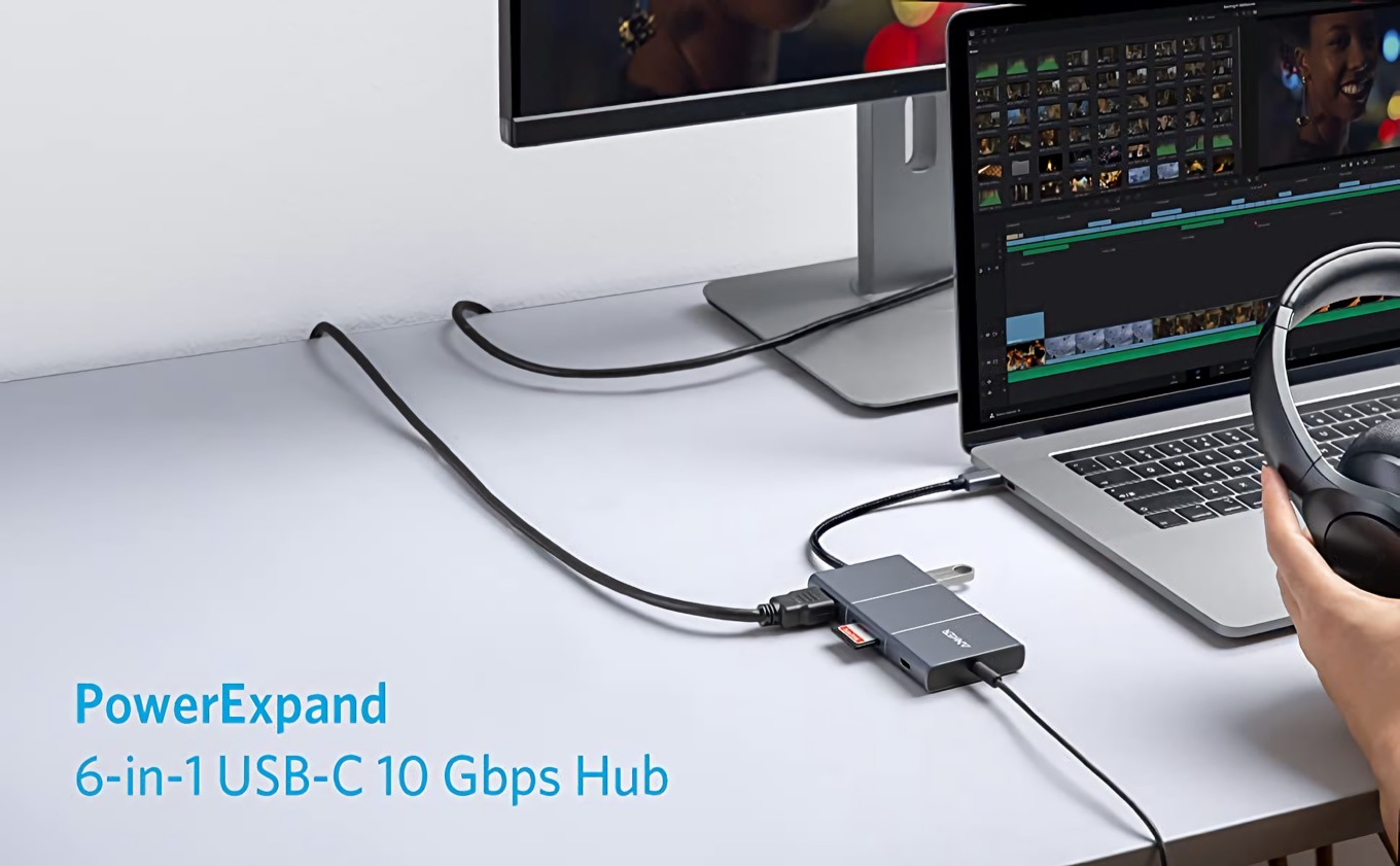 Anker PowerExpand 6-in-1 USB-C 10 Gbps Hub