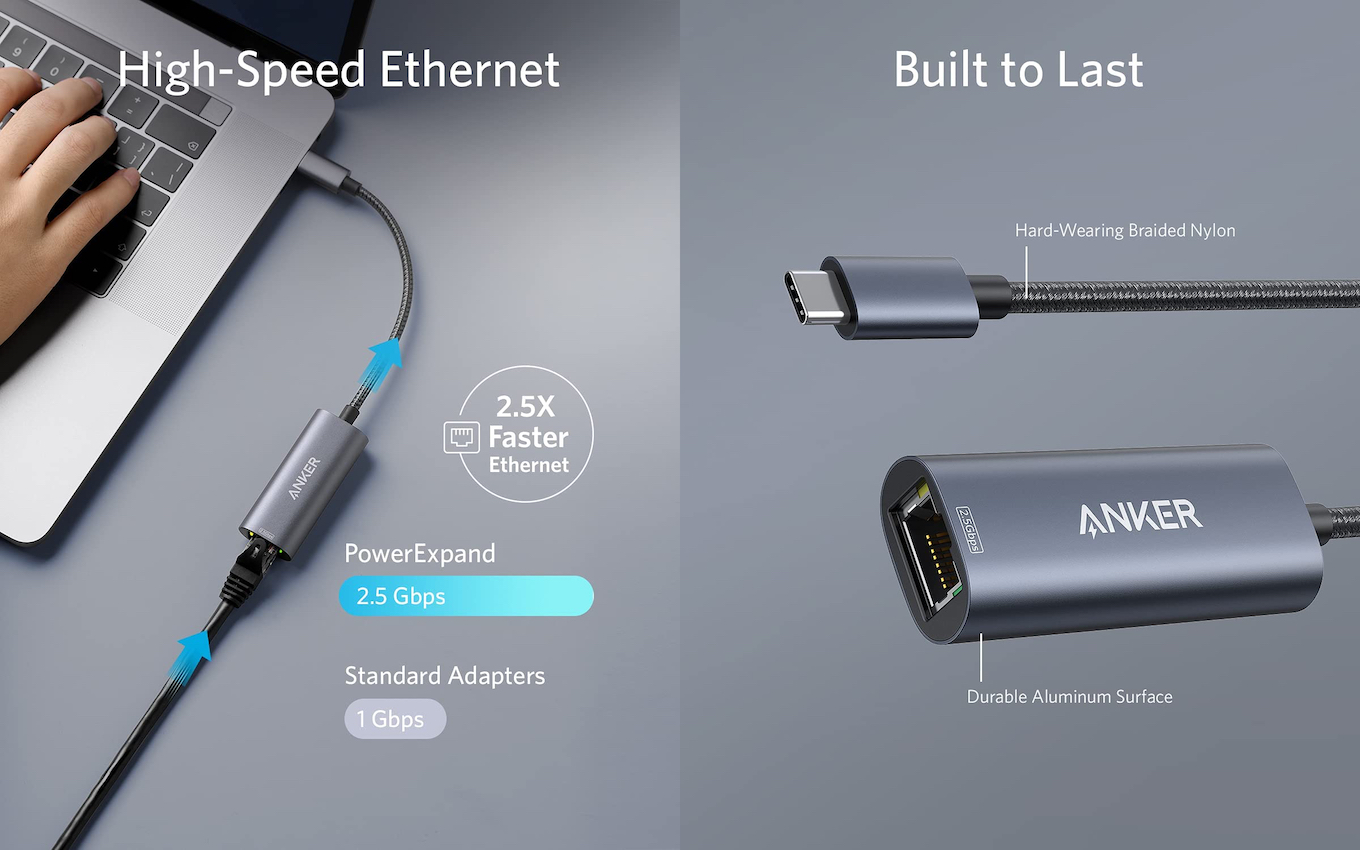 Anker PowerExpand USB-C to 2.5 Gbps Ethernet Adapter